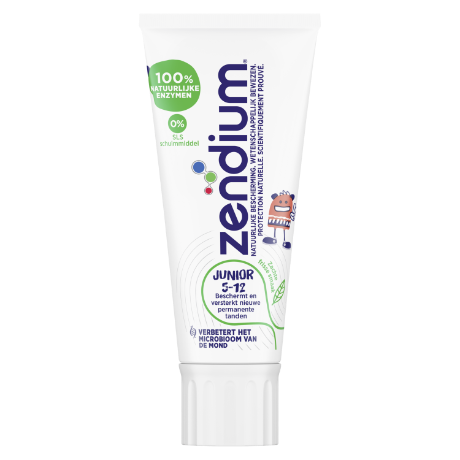Zendium Junior Tandpasta 5-12 jaar 50 ml front